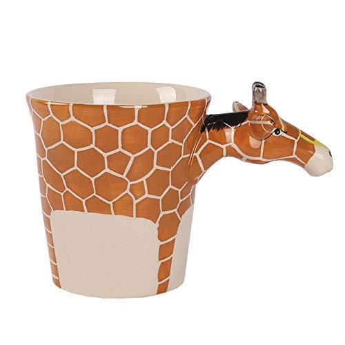 (prbll Thailand Handgemalte 3D Stereo Tier Becher Giraffe Keramik Kaffeetasse Freund Geburtstagsgeschenk Katze Wasser Tasse)