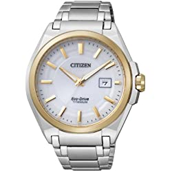 Citizen Herren-Armbanduhr Analog Quarz Titan BM6935-53A