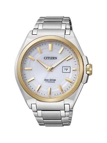 Citizen Herren-Armbanduhr XL Super Titanium Analog Titan BM6935-53A