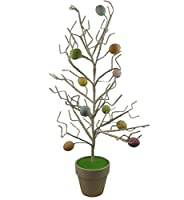 Gisela Graham pastello Easter Egg twig Tree borse in vaso ornamentale per 60 cm; This Tree is ideal for displaying Easter and includes the egg decorations - rami are poseable; many more Easter Products available in our shop; Size 60 cm; WE HA...