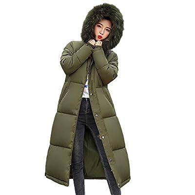 Ears Damen Daunenjacke Winterjacke Kapuzenmantel Wintermantel Lange Frauen DaunenmantelWinter Warm Dicker Mantel Parka Jacke Outwear