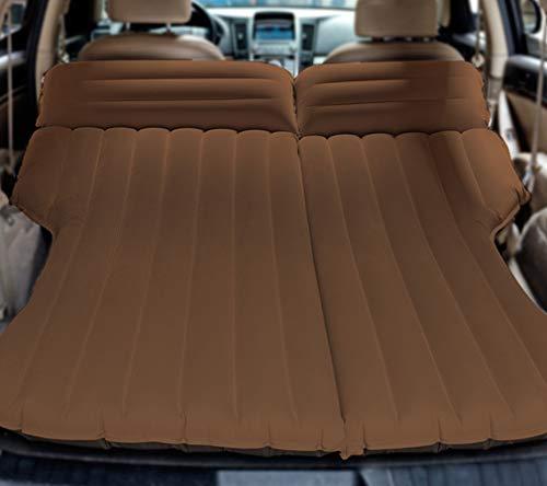 Zooma SUV Auto Reise 4/6 Split aufblasbare Matratze Beflockung Luftbett Camping Universal SUV Rücksitz Erweiterte Air Couch (Einheitsgröße, Kaffee)