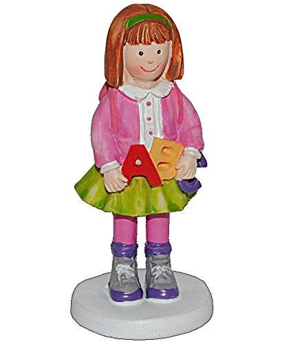 3 D Figur Madchen Mit Rucksack 9 5 Cm Tischdeko Zur Einschulung