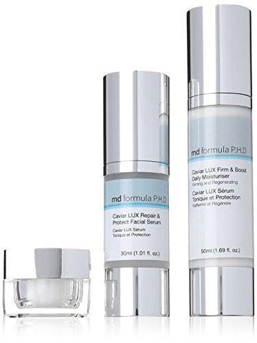 MD Formula P.H.D Caviar LUX Firm and Boost Daily Moisturiser, Protect Facial Serum, Revive Overnight Eye Treatment, 1er Pack - Facial Moisturiser Lift