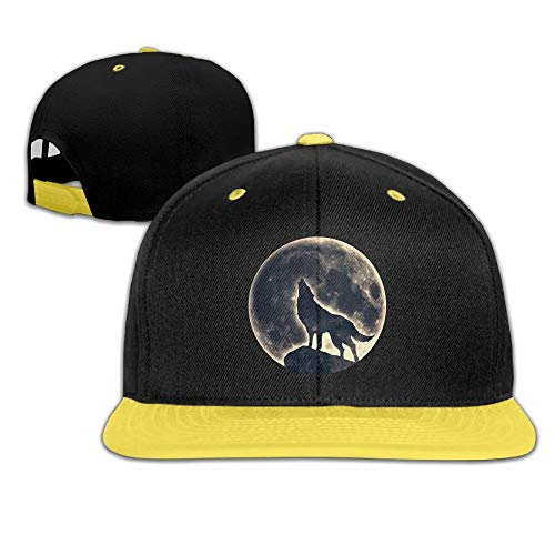 Mond-baseball-jersey (Kinder Hip Hop Baseball Cap und Hüte Jungen Mädchen Mond Wolf Unisex44)