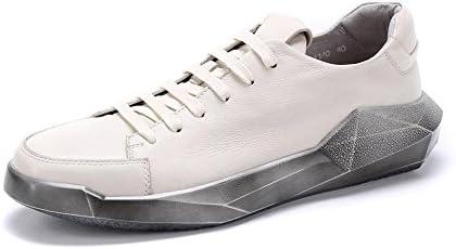 Hombres Cuero Con cordones Plano Zapatos Verano Primavera Real Soltero Tobillo británico Estilo Ocio Al aire libre...