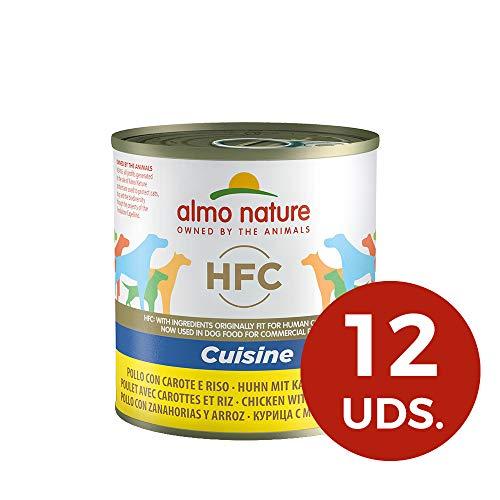 Almo Nature Dog HFC Cuisine Pollo, Zanahoria y Arroz, Pack de 12x280...