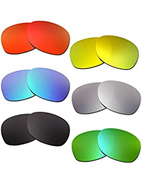 Hkuco Plus Mens Replacement Lenses For Ray-Ban Wayfarer RB2132 55mm Red/Blue/Black/24K Gold/Titanium/Emerald Green...