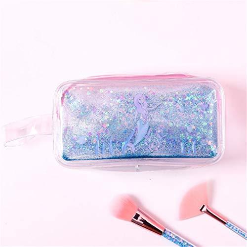 Madlst Kosmetiktasche, transparent, für Reisen, Make-up, Kosmetiktasche, Organizer blau