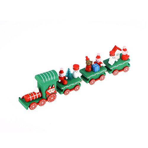 BESTOYARD Holz Zug Dekoration Weihnachten Mini Zug für Kinder nach Hause Weihnachtsparty Kindergarten Dekor (Weihnachten Zug Dekorationen)