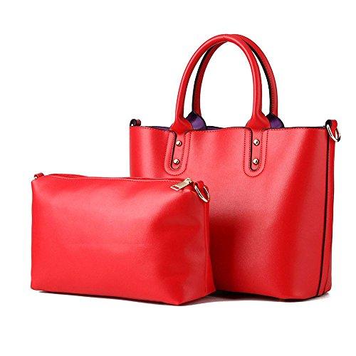 koson-man-2-in-1-donna-stile-vintage-con-tracolla-borsa-tote-bags-rosso-rosso-kmukhb378