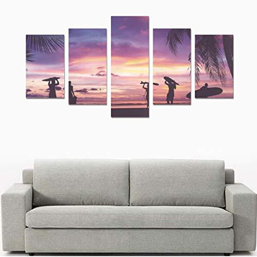 Viele verschiedene Surfbretter (ohne Rahmen) Leinwanddruck Sets Wandkunst Bild 5 Stücke Gemälde Poster Drucke Foto Bild Auf Leinwand Fertig Zum Aufhängen Für Wohnzimmer Schlafzimmer Home Office Wandd