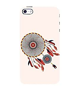 Fiobs Designer Back Case Cover for Apple iPhone 5S (Multicolor Ethnic Design)