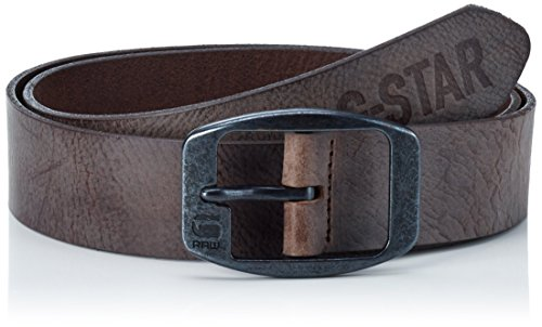 G-STAR RAW Ladd Belt, Cintura Uomo, Noir (Strato/Black Metal), 110 cm