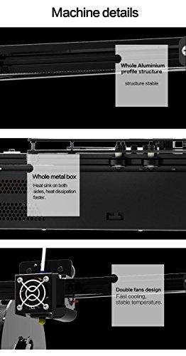 Tronxy Prusa i3 3D Drucker DIY Kit Full Metal Struktur mit MK3 Heatbed, Doppelventilatoren, HD LCD Display, Max Drucken Größe: 220 * 220 * 220 MM - 6