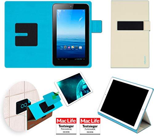 Premium 7 Tasche Cover Case Bumper | in Beige | Testsieger ()