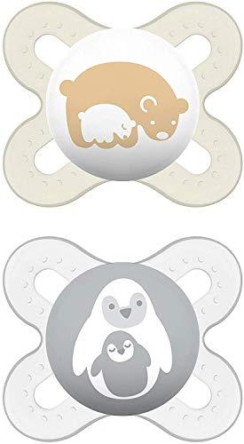 MAM Babyartikel 66643820 Start Silikon 0-2 Monate, Doppelbox, neutrales Design
