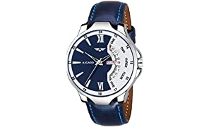 ASGARD Day n Date Feature Blue Dial Watch for Men, Boys (Blue)