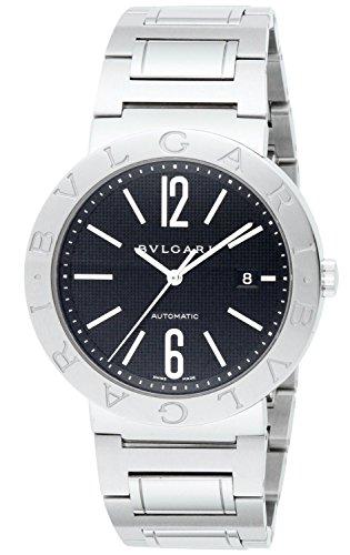 Bvlgari automático negro hombres reloj bb42bssd