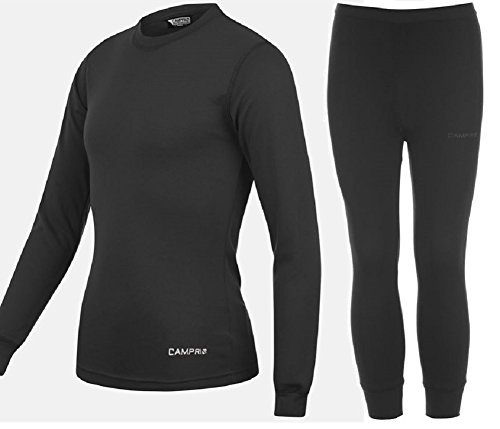 king-fisher-sports-base-layer-termica-top-pantalones-junior-unisex-de-ninos-color-negro-infantil-col