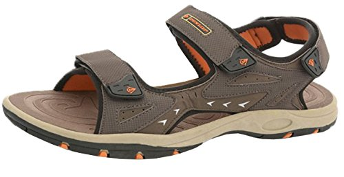 Dunlop , Bride de cheville homme - Dark Brown - Orange