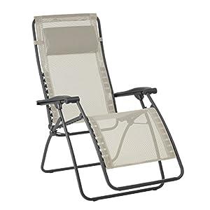 Lafuma Großer Relax-Liegestuhl, Klappbar und verstellbar, RSXA Clip XL, Batyline, Seigle (Beige), LFM2040-8548…