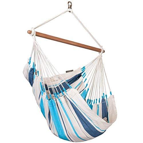 LA SIESTA - Caribeña Aqua Blue - Hängestuhl Basic aus Baumwolle