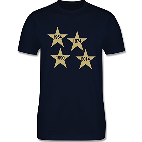 Fußball - Weltmeister 2014 Der vierte Stern - Herren Premium T-Shirt Navy Blau