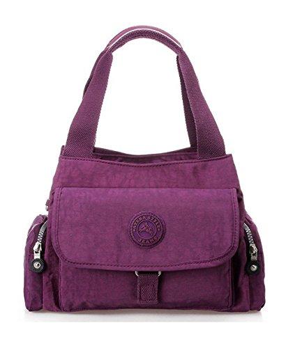 Nylon neuer Stil Damen Handtaschen, Hobo-Bags, Schultertaschen, Beutel, Beuteltaschen, Trend-Bags, Velours, Veloursleder, Wildleder, Tasche Mehrfarbig 1 Keshi