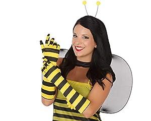 Atosa-50401 Atosa-50401-Accesorio-Guantes Largos Abeja, Color amarillo y negro, Talla única (50401