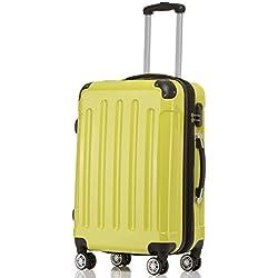 BEIBYE Zwillingsrollen 2048 Hartschale Trolley Koffer Reisekoffer in M-L-XL-Set in 17 Farben (Grün, L)
