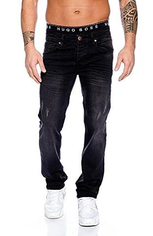 Rock Creek Herren Jeans Hose Schwarz RC-2095 [W42
