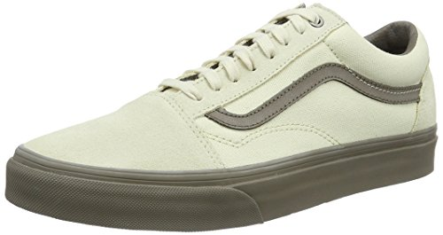 Vans Herren UA Old Skool Sneakers, Elfenbein (C and D Cream/Walnut), 44 EU, VA38G1MOL (Cap Suede Canvas)