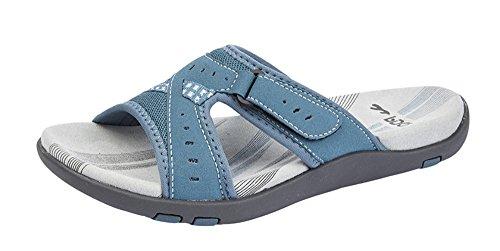 PDQ , Damen Sandalen Blau