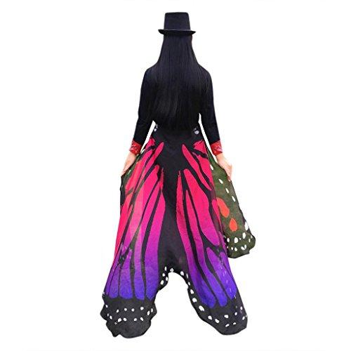 Schmetterling Pfauenauge Flügel Schal, mamum weicher Stoff Schmetterling Flügel Schal Fairy Damen Nymphe Pixie Kostüm Zubehör Einheitsgröße hot - Für Erwachsene Pixie-kostüme