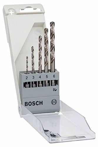"""Preisvergleich Produktbild Bosch Pro 5tlg. Metallbohrer-Set HSS-G geschliffen mit 1/4""""-Sechskantschaft"""