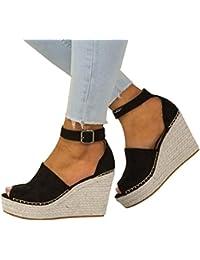 Elecenty scarpa Tacco Alto Sexy Sandali Donna con Plateau E Bocca di Pesce  Scarpe con Tacco 31c198c8382