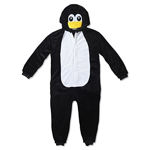 Kinder Fleece Onesie - Pinguin Kostüm 2 - -
