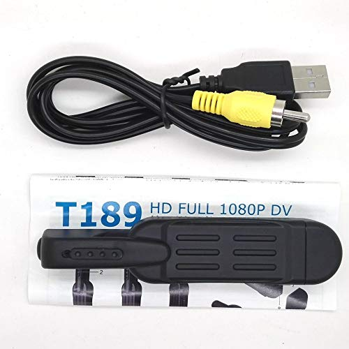tyughjytu Full HD 1080P Mini-DV DVR Taschen der fotografischen Aufzeichnung der T189 Pen Video Voice Recorder Maschine (Pen Video Recorder)