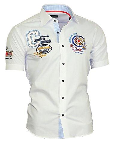 Binder de Luxe Herren Kurzarm Hemd modern fit Weiß 42