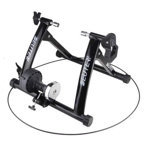 LCZHP Indoor Cycling Bike, Bike Trainer-Stand, Rennrad, Fahrradtrainingsplattform Indoor Cycling Plattform Radfahren Fitness-Rack,Schwarz
