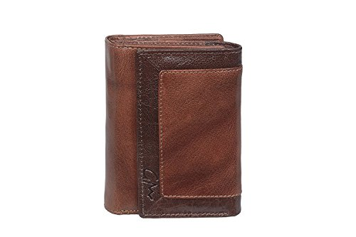 Gentleman Women Brown Genuine Leather Hand Wallet(17 Card Slots)