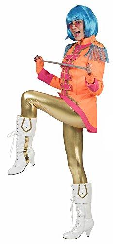 Pierro's Karnevalshop Sergeant Pepper Beatles Jacke für Damen - Orange - Gr. 40 ()