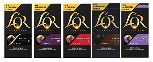 L'OR Nespresso® Línea original compatible Cápsulas de aluminio Set