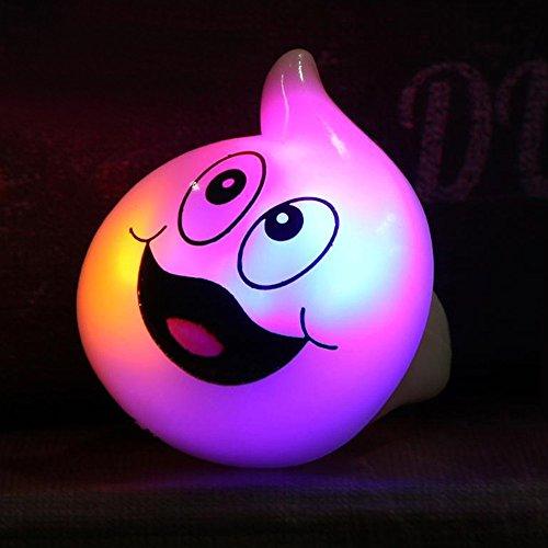 JIALUN- LED Warme Entfärbung von RGB Halloween Bar Dance Requisiten LED-Leuchten Ringe Geist Kürbis Ring mit Batterien (1PCS) -