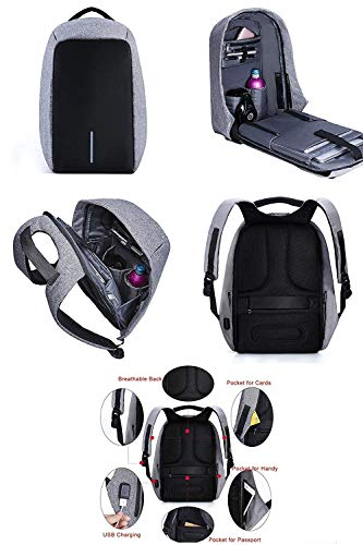 Backpack OZOY Fabric Anti-Theft Water Resistant Computer USB Charging Port Lightweight Laptop Backpack Bag Fitting 15.6-inch Laptops Tablets Image 2
