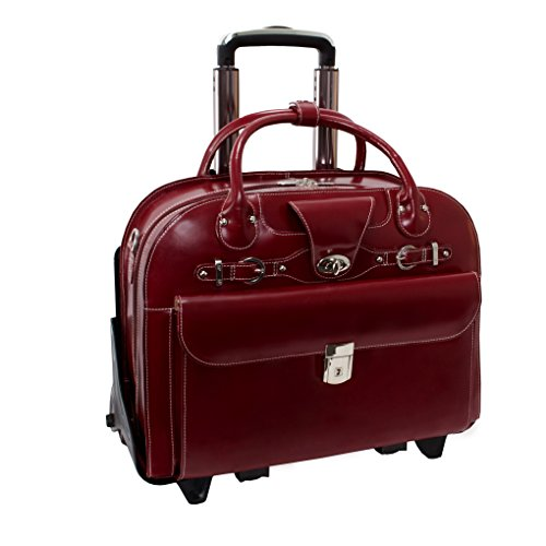 mcklein-roseville-96646-red-leather-detachable-ladies-wheeled-briefcase
