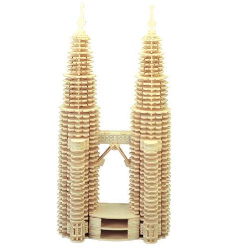 ETNA Ilawa Petronas Twin Towers 3D Holzbausatz Zwillingstürme Steckpuzzle Bauwerk Holzpuzzle P102 -
