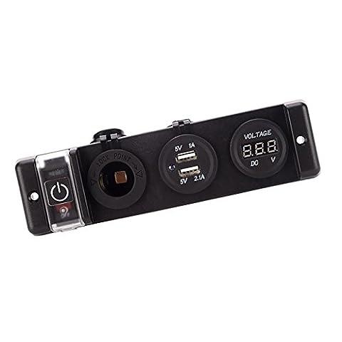 Sharplace 12V Auto Steckdose Zigarettenanzünder Adpater Dual USB-Buchse Verteiler Splitter (Elektrische Breaker Ersatz)
