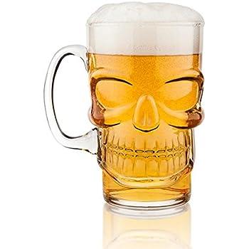 Final Touch Boccale Birra A Forma Di Teschio In Vetro Idea Per